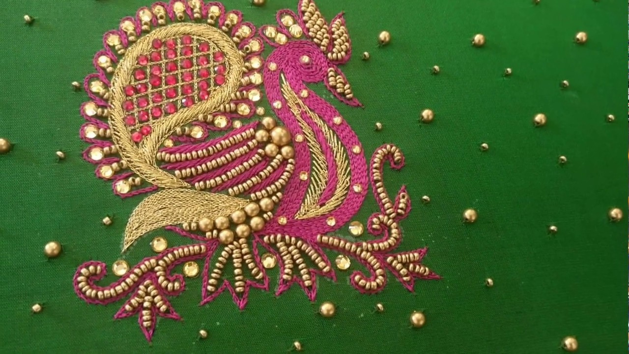 Blouse Sleeve Design #070 - Peacock