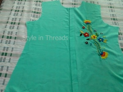 Button up shirt with embroidery, Part-1, cutting