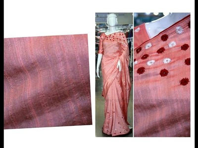 Converting Old Plain Sari  to New Designer Sari - Very Simple & Easy | Home  Decor