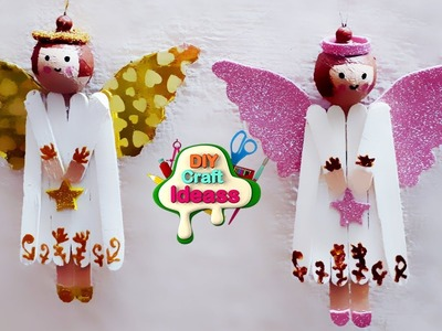 Easy and cheap Christmas crafts for recycling   Angel Christmas diy   diy craft ideas