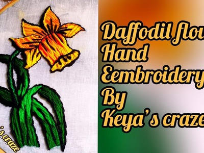 Hand embroidery | Daffodil flower hand embroidery | wallmate hand embroidery #handembroidery