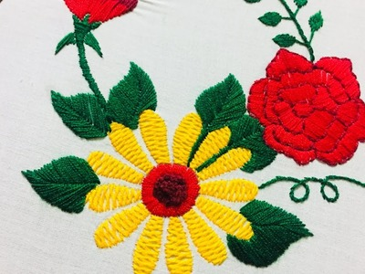 Hand embroidery flower embroidery design by nakshi design art