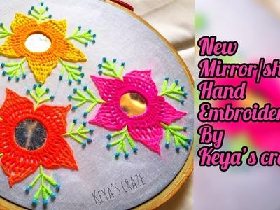Hand embroidery   New Innovative mirror. shesha hand embroidery   All over mirror hand embroidery
