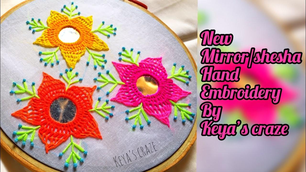Hand embroidery | New Innovative mirror. shesha hand embroidery | All over mirror hand embroidery