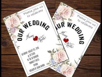 How to create Simple Wedding invitation using Adobe Photoshop CC 2015
