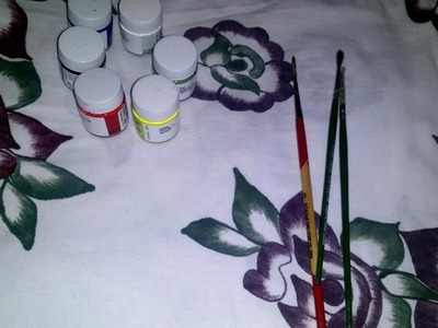 How to make bedseet painting karna sikhe easy tarike se.simple design. Nisha bhati macrame art