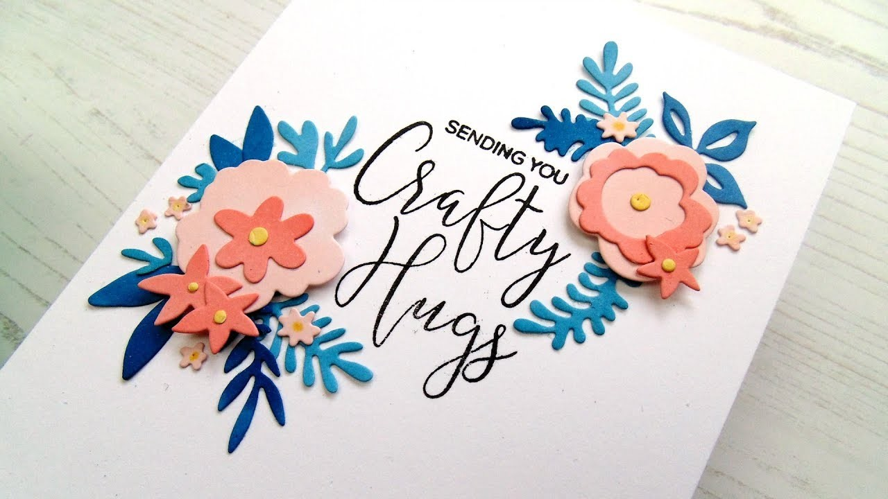 Lydia's Crafty Corner- Floral Embellishments Using Spring Shower Cover Die