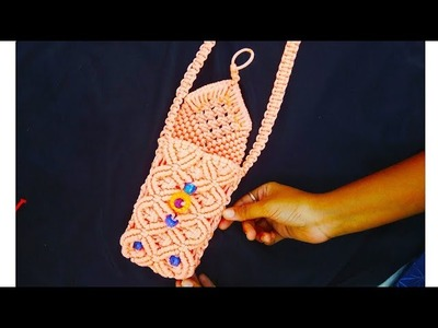 Macrame New Design Mobile Purse Tiutorial in Hindi || Full HD Part