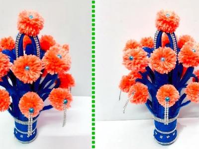 New Design Guldasta.flower vase from plastic bottle at home  Best out of waste   DIY Flower pot