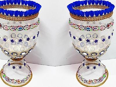 New Guldasta.flower vase from plastic bottle at home  Best out of waste  DIY Flower Guldasta