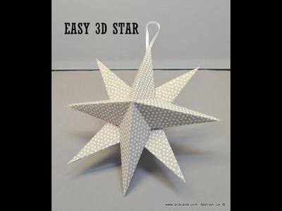 No.422 - 3D Star - UK Stampin' Up! Independent Demonstrator