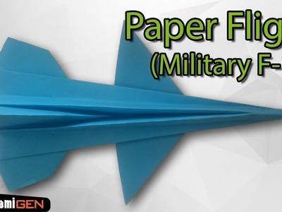 Origami Paper Military F16 Flight