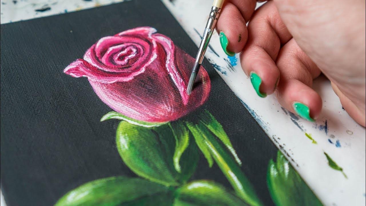чат видео как художник рисует розу на русском девчонки закатились