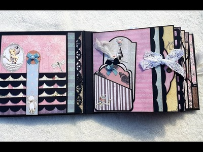 Tutorial 1.5 Santoro 6x6 mini album using home made templates with brother scan n cut !!!