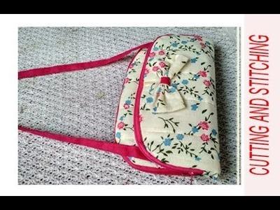 10 मिनट double zipper handmade handbag cutting and stitching.shopping bag.travel bag