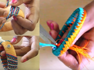 2 Different Silk Thread Bangles for Party   Latest Silk Thread Bangles Collection 2017   trends