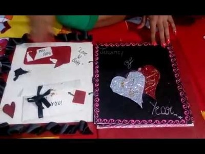 25th anniversary card for mom dad.  Hand made card.  (Must watch)????