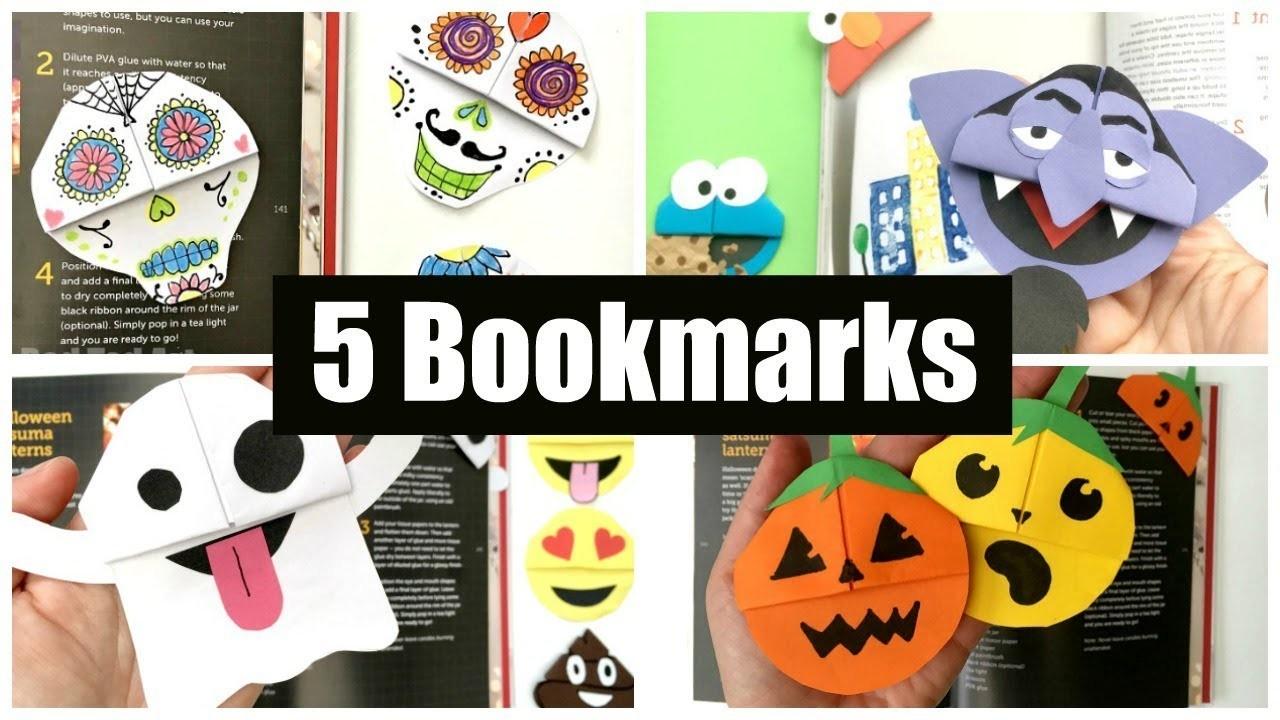 5 BEST Halloween Bookmark Corners - How to make a corner bookmark SPOOKY!
