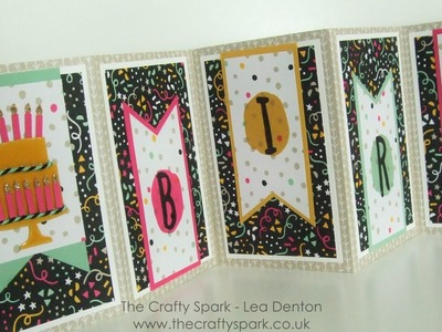 Birthday Concertina Card Stampin' Up! It's My Party