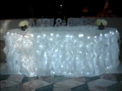 Curly Willow Wedding Sweetheart Table Skirting at The Matrix CT