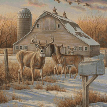 CRAFTS Deer Farm Cross Stitch Pattern***LOOK***