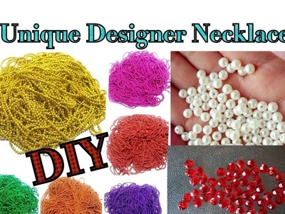 Designer necklace making with ball chain