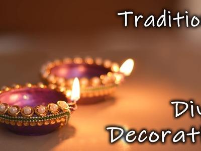 Diwali Speacial   How to decorate traditional Diya At home   Diwali Decoration