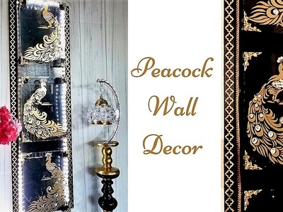 Diy 5 Minutes Peacock Wall Decor on Glass! Quick and Inexpensive Home Decorating idea!