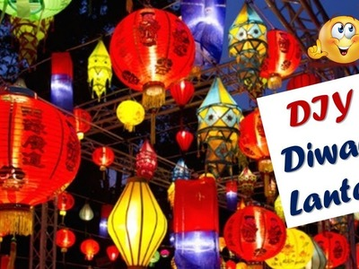 DIY Paper Diwali Lantern Idea at home I Diwali Decor Idea I Creative Diaries