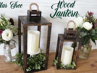 Dollar Tree DIY Real Wood Lantern