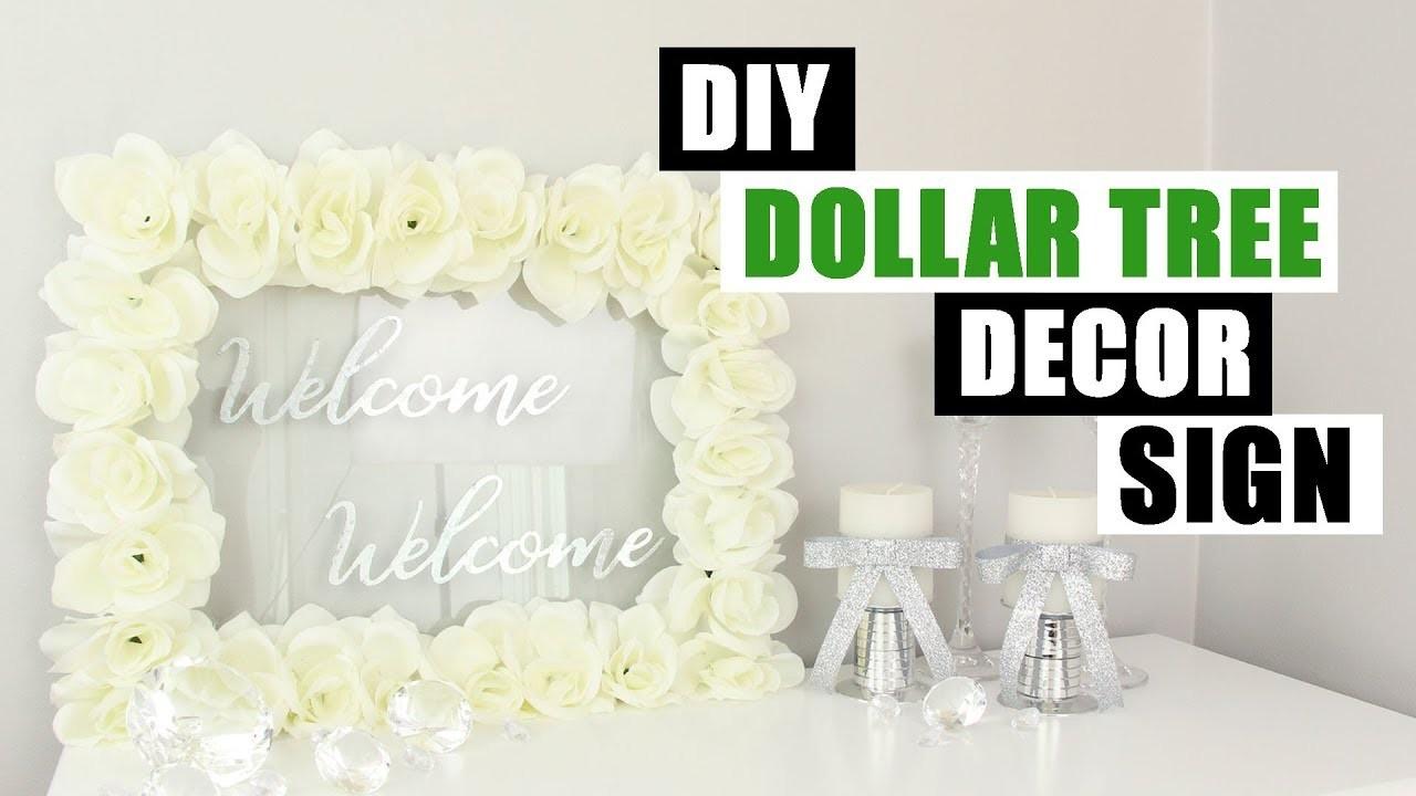 DOLLAR TREE DIY Sign Or Dry Erase Board | Glam Rose Home Decor