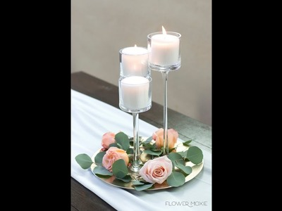 EASY CANDLE.GREENERY CENTERPIECE- by Flower Moxie