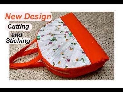 EASY.  cutting stitching of handmade handbag.shopping bag. mini travel bag with zipper