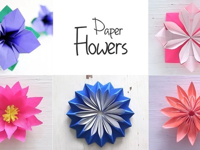 Easy Paper Flowers | Flower Making | DIY