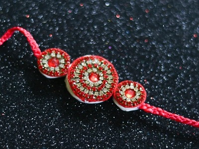 EASY RAKHI MAKING IDEAS AT HOME | How To Make Rakhi At home Step By Step |
