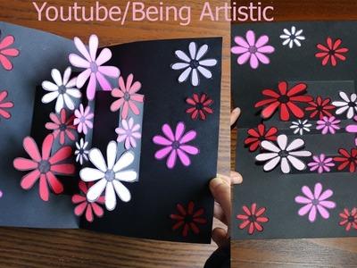 Easy Way To Make  Flower Pop up Card 12-Paper Crafts-Handmade Craft