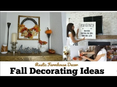 Fall Decorate With me, Rustic Fall Farmhouse Ideas | Momma From Scratch
