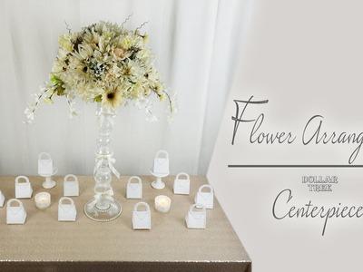 Flower Arrangement Centerpiece. Dollar Tree. Wedding. Bridal Shower