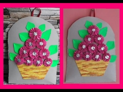Flower Bouquet wall hanging making-Home Decor