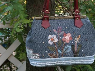 퀼트 가방 만들기 │ Hand Quilt Applique Embroidery Bag │  How To DIY Craft Tutorial