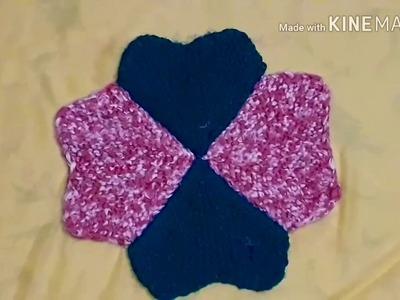 Handmade New design heart shape doormat in hindi version step by step.