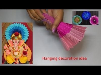 Hanging decoration idea for diwali. Ganpati decoration