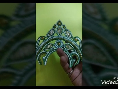 How to make a bengali style mukut without stones and threads.
