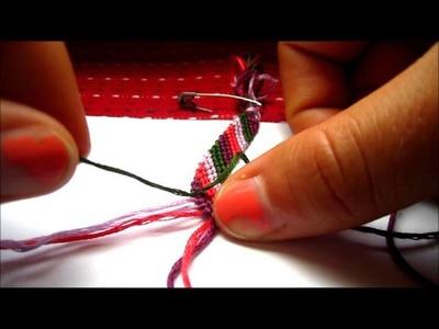 How To: Make a Diagonal Striped Friendship Bracelet