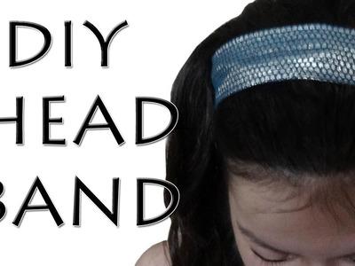How to make a Hair Band - DIY Elastic Head Band