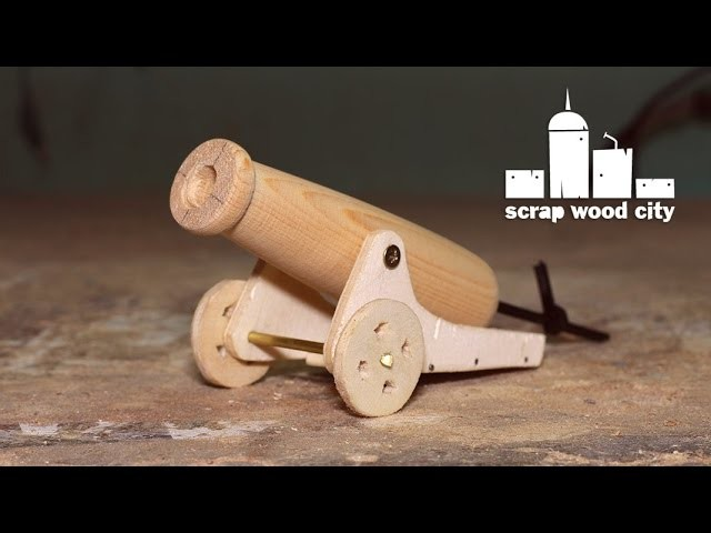 How to make a mini wooden toy canon