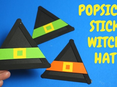 How to Make a Popsicle Witch Hat | Halloween Crafts for Kids
