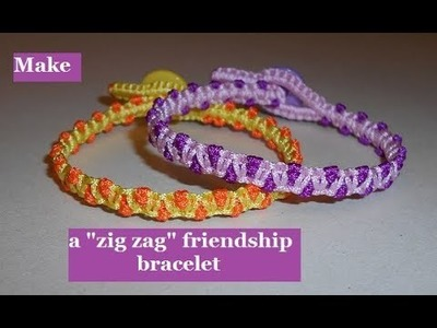 "How to Make a ""zig zag"" Friendship Bracelet"