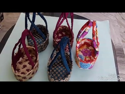 "How to make beautiful bags with waste 'BRU"" powder  boxes"