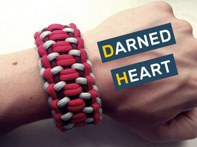How to make Paracord Bracelet Darned Heart
